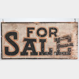 """Painted """"FOR SALE"""" Sign"""