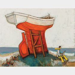David Pryor Adickes (American, b. 1927)      The Beached Boat