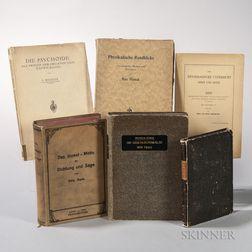 Psychoanalysis, Physiology, German Language, Six Volumes.