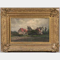 Hendrik-Dirk Kruseman Van Elten (American, 1829-1904)      The Approaching Storm, Holland