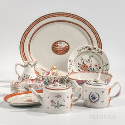 Thirteen Export Porcelain Table Items