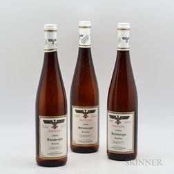 Staatsweinguter Riesling Kabinett Steinberger 1989, 3 bottles