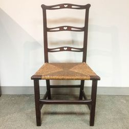 Chippendale Carved Mahogany Slat-back Side Chair
