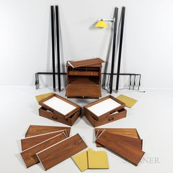 George Nelson (1908-1986) for Herman Miller Comprehensive Storage System (CSS) Wall Furniture