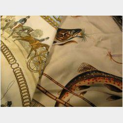 Two Vintage Silk Scarves