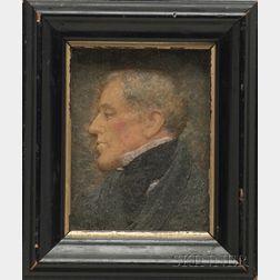 Wax Portrait Miniature of a Gentleman
