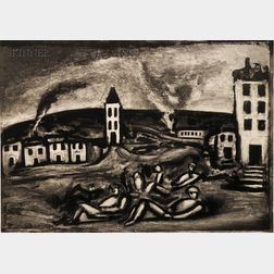 Georges Rouault (French, 1871-1958)      Lot of Two Images from MISERERE:   Celui qui croit en moi, fut-il mort, vivra