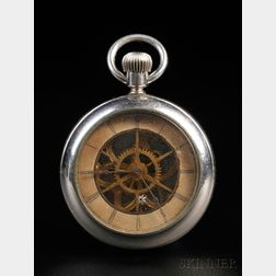 "Waterbury ""Rotary Long Wind"" Open Face Watch"