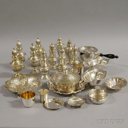Assorted Group of Mostly Small Sterling Silver Tableware