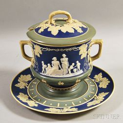 Villeroy & Boch Mettlach Stoneware Covered Tureen and Underplate