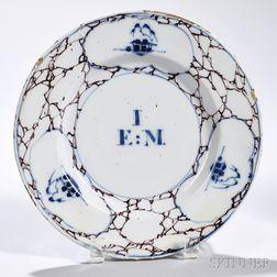 Tin-glazed Earthenware Cracked Ice   Plate