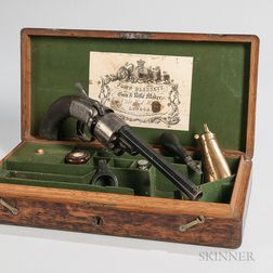 Cased John Blissett Transitional Revolver Identified to Lieutenant Colonel Andrew Porter, United States Mounted Rifles