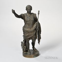 Grand Tour Bronze Figure of Julius Caesar