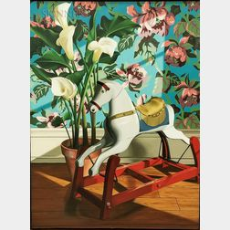 Robin Freedenfeld (American, 20th Century)    Hobby Horse and Calla Lily