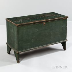 Green-painted Pine Blanket Chest