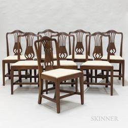 Eight Federal-style Mahogany Dining Chairs