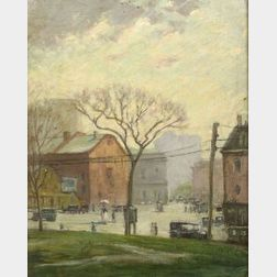 Stacy Tolman (American, 1860-1935)  A View from the First Baptist Church, Providence, Rhode Island