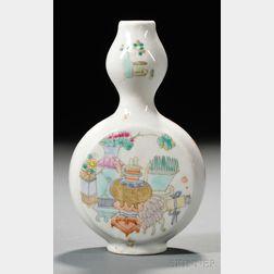 Famille Verte Flask Vase