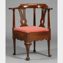 Chippendale Mahogany Chamber Chair