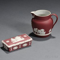 Two Wedgwood Crimson Jasper Dip Items