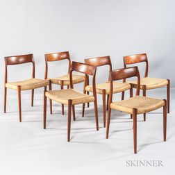 Six J.L. Moller Dining Chairs
