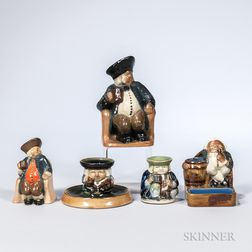 Five Royal Doulton Lambeth Stoneware Harry Simeon Design Figures