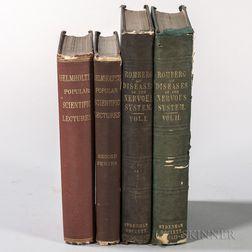 Science and Medicine, Four Volumes by Hermann von Helmholtz (1821-1894) and Moritz Heinrich Romberg (1795-1873).
