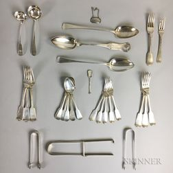 Group of Scottish and English Sterling Silver Flatware