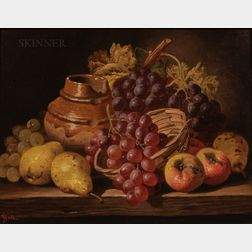 Charles Thomas Bale (British, 1849-1925)      Still Life with Fruit