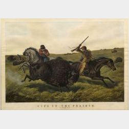 Currier & Ives, publishers (American, 1857-1907)  LIFE ON THE PRAIRIE.  The Buffalo Hunt.