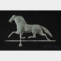 Molded Copper Ethan Allen Running Horse Weather Vane