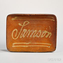 """Samson"" Slip-decorated Dish"