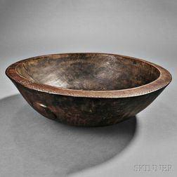 Melanesian Carved Wood Bowl