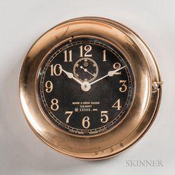 Seth Thomas U.S. Navy Mark 1 Deck Clock