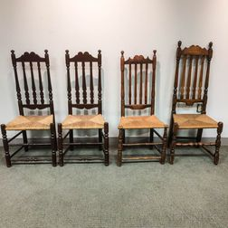 Four Bannister-back Side Chairs