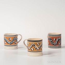 Three Don Carpenter Slip-decorated Mugs