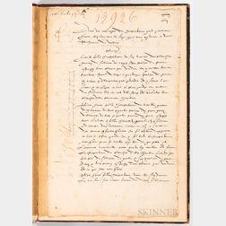 Mathurine de Vallois (fl. 1589-1627) Letter Signed, July 1628.