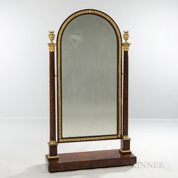 Empire-style Ormolu-mounted Mahogany Cheval Mirror