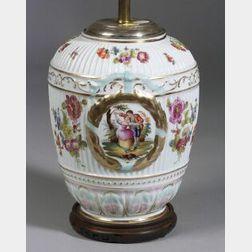 Dresden Porcelain Lamp Base