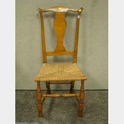 Queen Anne Spanish Foot Side Chair.