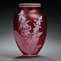 English Cameo Glass Vase