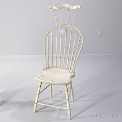 Windsor Bow-back Side Chair with Comb