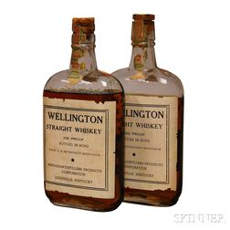Wellington Straight Whiskey 9 Years Old 1917, 2 pint bottles