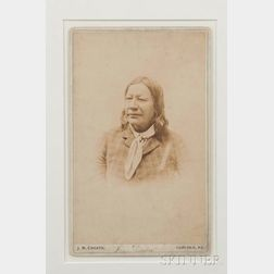 "Framed Imperial Cabinet Card of ""Fire Thunder"""