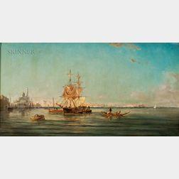 Henri Van Wyk (Dutch, 1833-c. 1899)      Mediterranean Harbor View