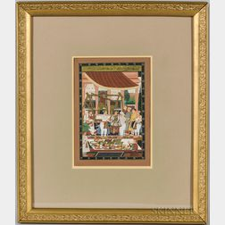 Miniature Painting of a Market