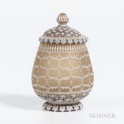 Thomas Webb & Son English Cameo Covered Jar
