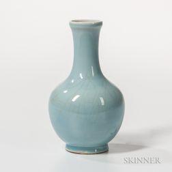 Sky Blue-glazed Bottle Vase
