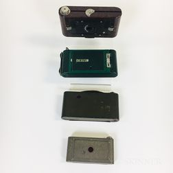 Four Folding Colorful Kodak Cameras