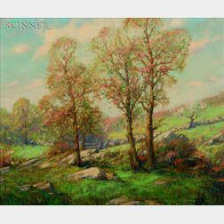 Frank Vining Smith (American, 1879-1967)    Spring Pasture, Hingham